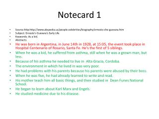 Notecard  1