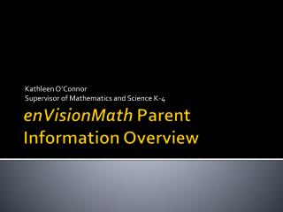 enVisionMath  Parent Information Overview