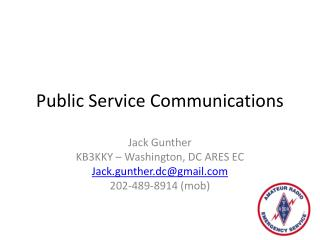 Public Service Communications