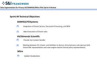 Data Segmentation for Privacy VA/SAMHSA/ Mitre  Pilot Sprint 4 Review