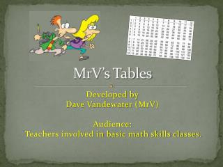 MrV's Tables