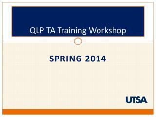 QLP TA Training Workshop