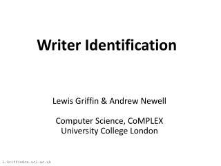 Writer Identification