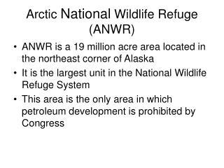 Arctic National Wildlife Refuge ANWR