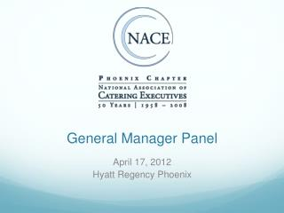 General Manager Panel