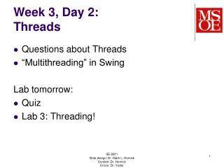 Week 3, Day 2: Threads