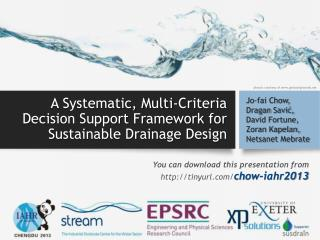 A Systematic, Multi-Criteria Decision Support Framework for Sustainable Drainage Design