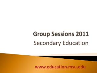 Group Sessions 2011