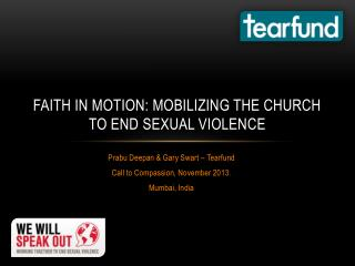 Faith in motion: Mobilizing the church to end Sexual violence