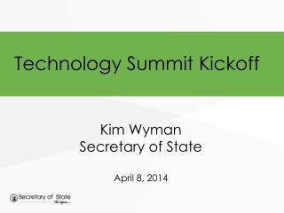 Technology Summit Kickoff