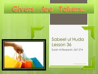 Sabeel  ul Huda  Lesson  36