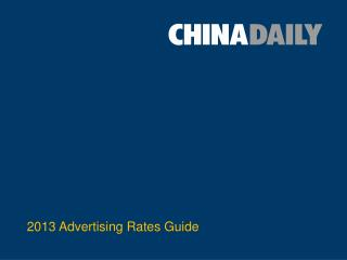 2013 Advertising Rates Guide