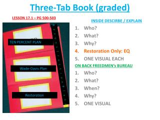Three-Tab  Book (graded)