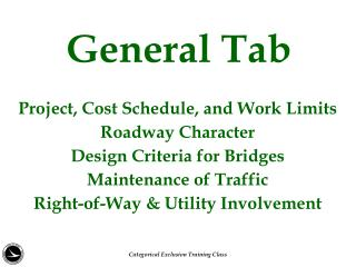 General Tab