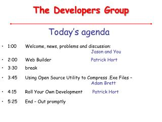 The Developers Group