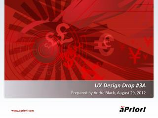 UX Design Drop  #3A