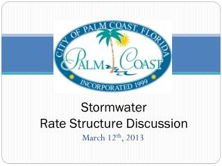 Stormwater Rate Structure Discussion