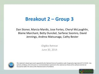 Breakout 2 – Group 3