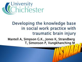 Developing the knowledge base in social work practice with traumatic brain injury