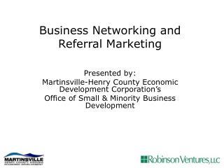Business network marketing