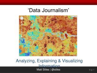 'Data Journalism'