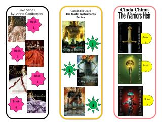 Cassandra Clare The Mortal Instruments Series