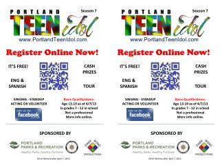 Register Online Now!