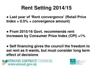 Rent Setting 2014/15