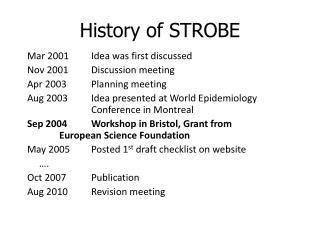 History of STROBE