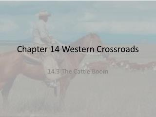 Chapter 14 Western Crossroads