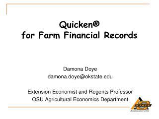 Quicken®  for  Farm Financial Records