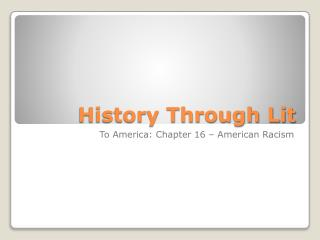 History Through Lit