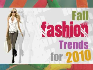 fashion trends 2010