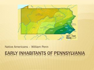 Early Inhabitants of Pennsylvania