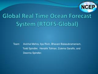 G lobal Real Time Ocean Forecast System (RTOFS-Global)
