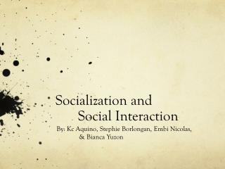 Socialization and  	Social Interaction