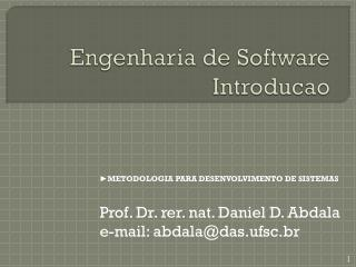 Engenharia de Software Introducao