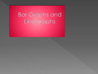 Bar Graphs and Line graphs