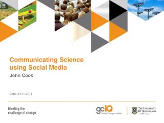 Communicating Science using Social Media