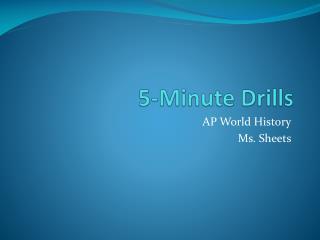 5-Minute Drills