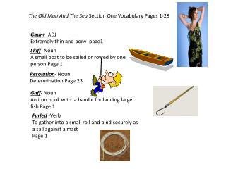 The Old Man And The Sea  Section One Vocabulary Pages 1-28
