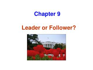 Leader or Follower