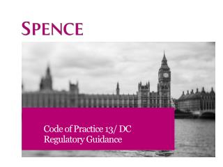 Code of Practice 13/ DC Regulatory Guidance