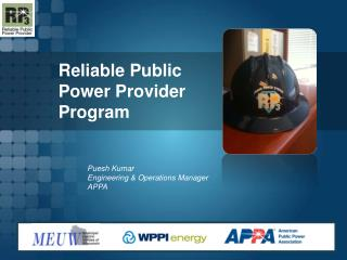 Reliable Public Power Provider Program