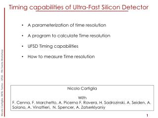 Timing capabilities  of  Ultra -Fast Silicon Detector