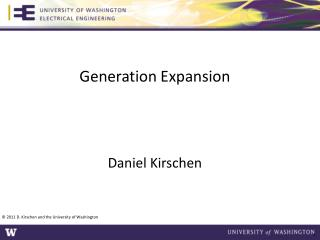 Generation Expansion