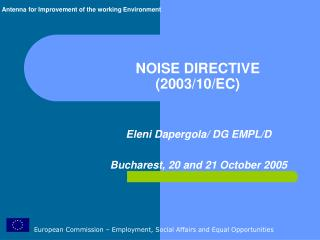 NOISE DIRECTIVE  2003