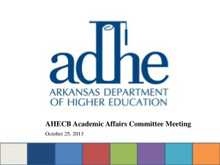 AHECB  Academic Affairs Committee  Meeting