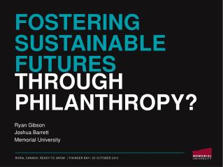 Fostering Sustainable Futures