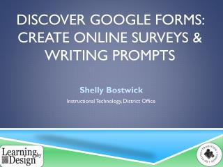 Discover Google Forms: Create Online Surveys & Writing Prompts